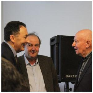 Marc Galy avec Samy Anidjar et François Roustang
